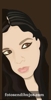 Dibujo de rostro femenino
