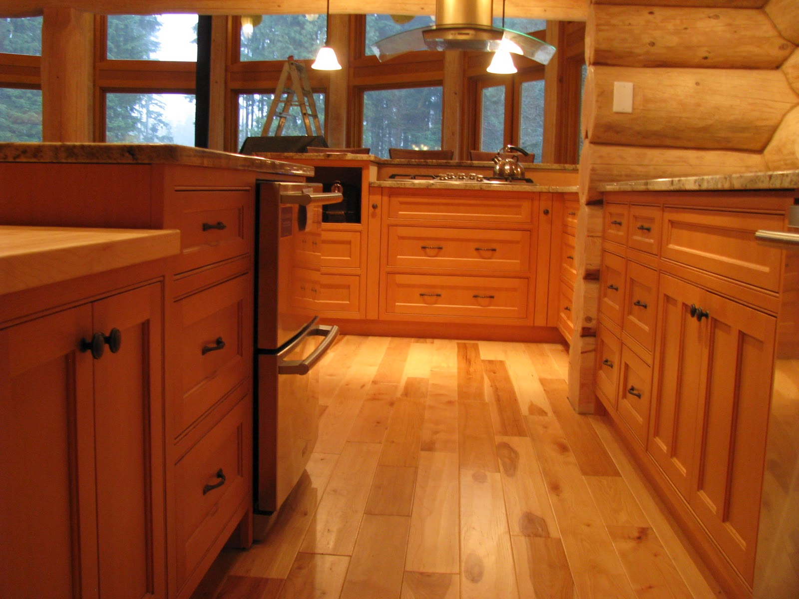 Vertical Grain Douglas Fir Kitchen Cabinets