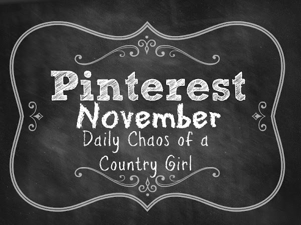 {Pinterest November} DIY Chalkboard