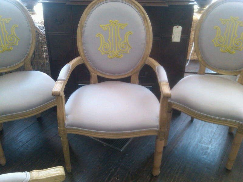 Charmant Monogrammed Dining Room Chairs