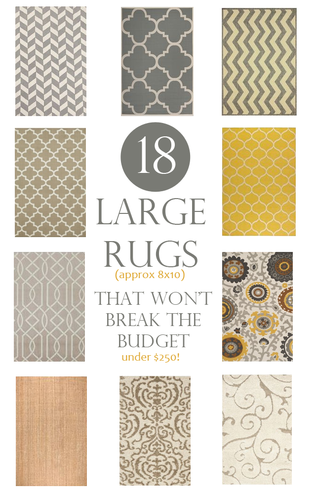 18 large area rugs that won't break the budget