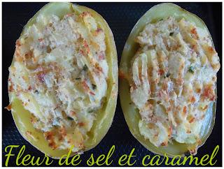 Pommes de terre farcies au marcarpone et serrano