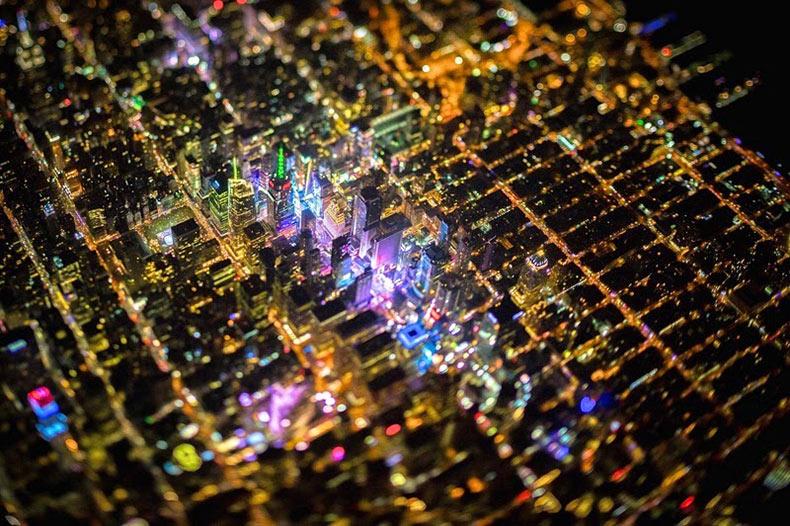 Impresionantes fotos tomadas de noche de la ciudad de Nueva York desde 2.3 kilómetros