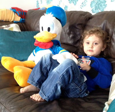 Ben and Donald Duck on Day 119 of The 366 Project