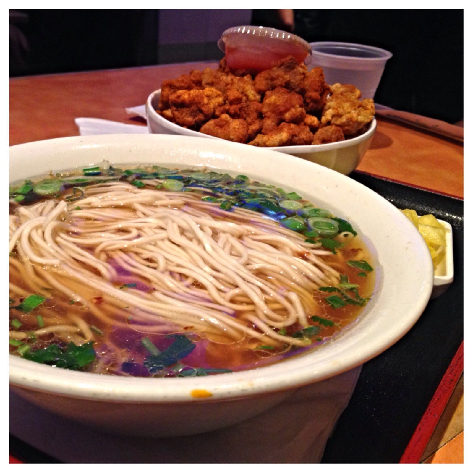 Popcorn Chicken Noodle Soup At Guppy House   Irvine