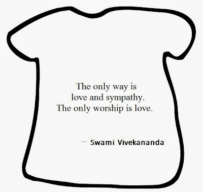 The only way is love and sympathy, The only worship is love.
