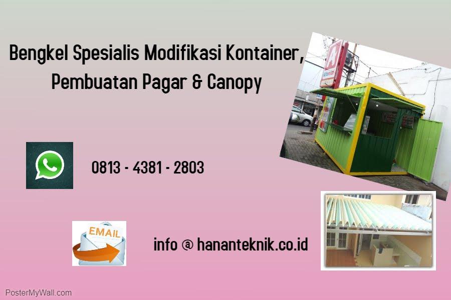 TELP :0813-4381-2803 Spesialis Kanopi, Pagar dan  Warung Kontainer