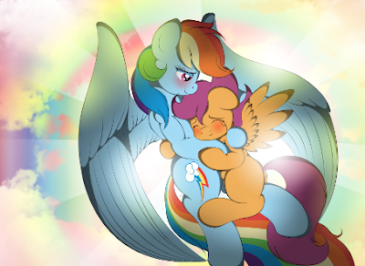 All my hopes came true, Rainbow Dash and Scootaloo!