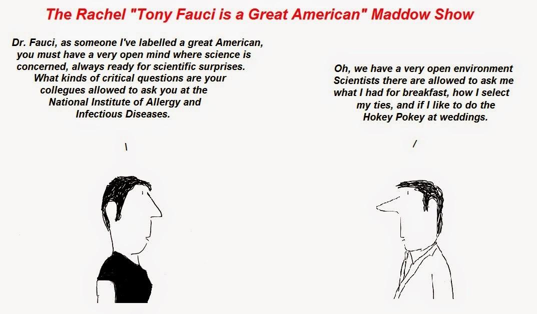 anthony fauci, rachel maddow, cfs, chronic fatigue syndrome, aids, cfs/aids apartheid, NIAID, msnbc
