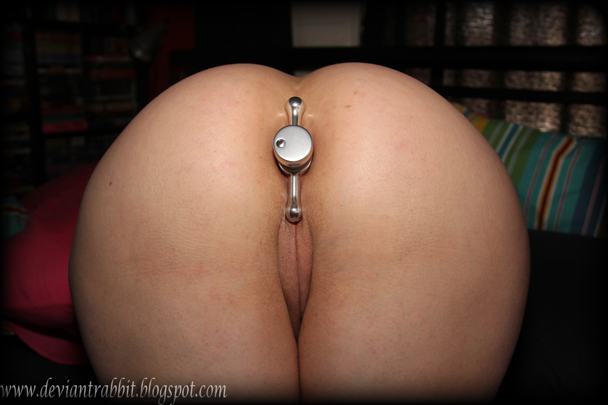 Ass hole plugged