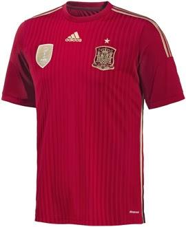 camiseta selección española de fútbol roja Mundial 2014