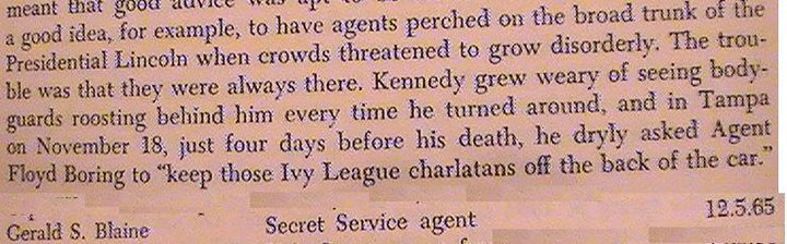 GERALD BLAINE WAS THE ORIGINATOR OF THE FALSE MYTH ABOUT JFK!