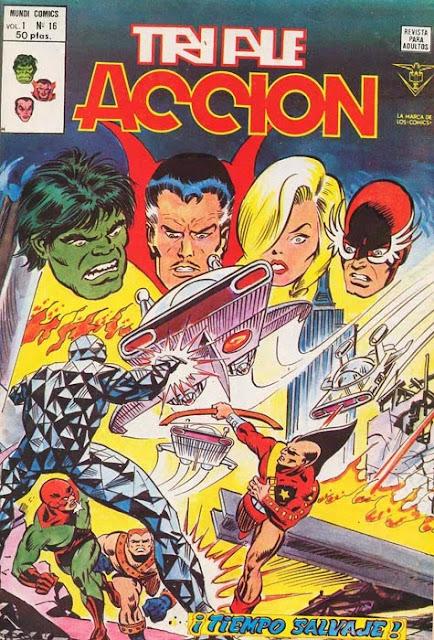 Portada de Triple Acción Volumen 1 Nº 16 Ediciones Vértice