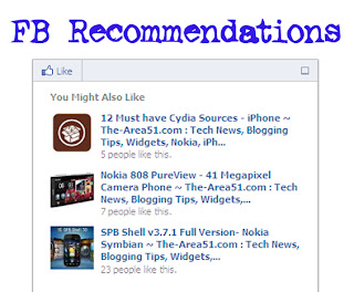 Facebook Recommendations Bar for blogger