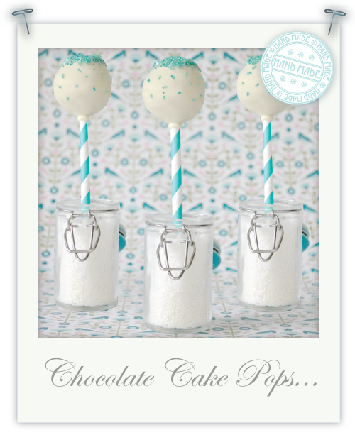 Chocolate chip fudge cake pops
