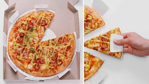 Innovative paper pizza dish design