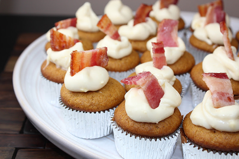 Pumpkin Ale Cupcakes with Maple Bacon Frosting | Generation Y Foodie
