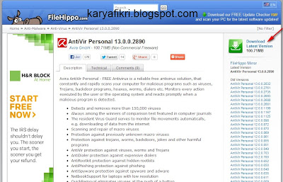 cara download avira gratis di filehippo
