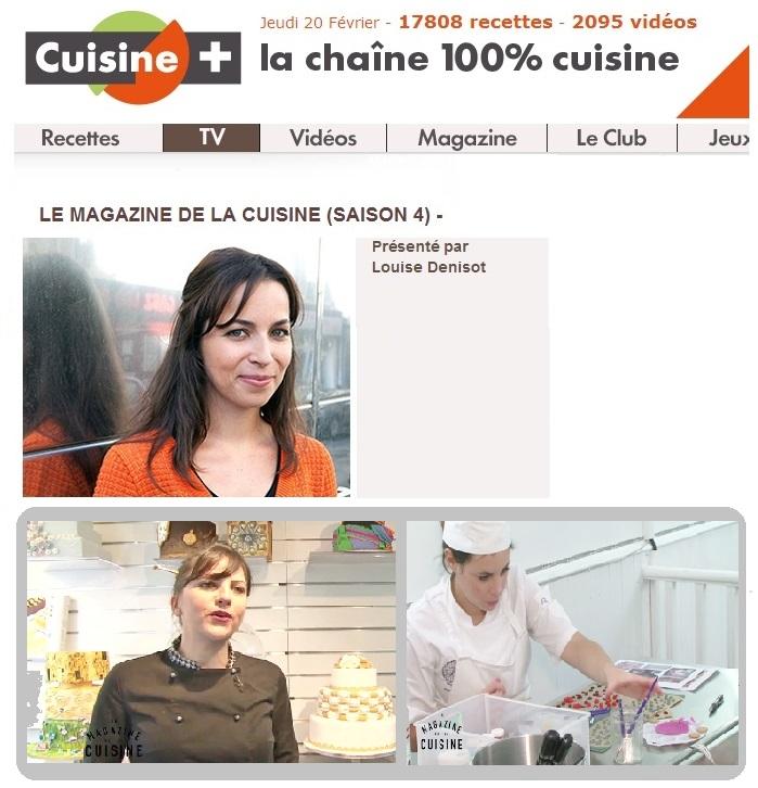 cuisine+ le magazine de la cuisine Louise Denisot Briochine ecole Cake design