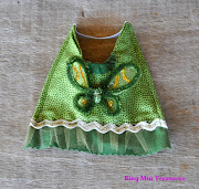 This is the Tinkerbell costume. It's made mainly with cotton fabric.