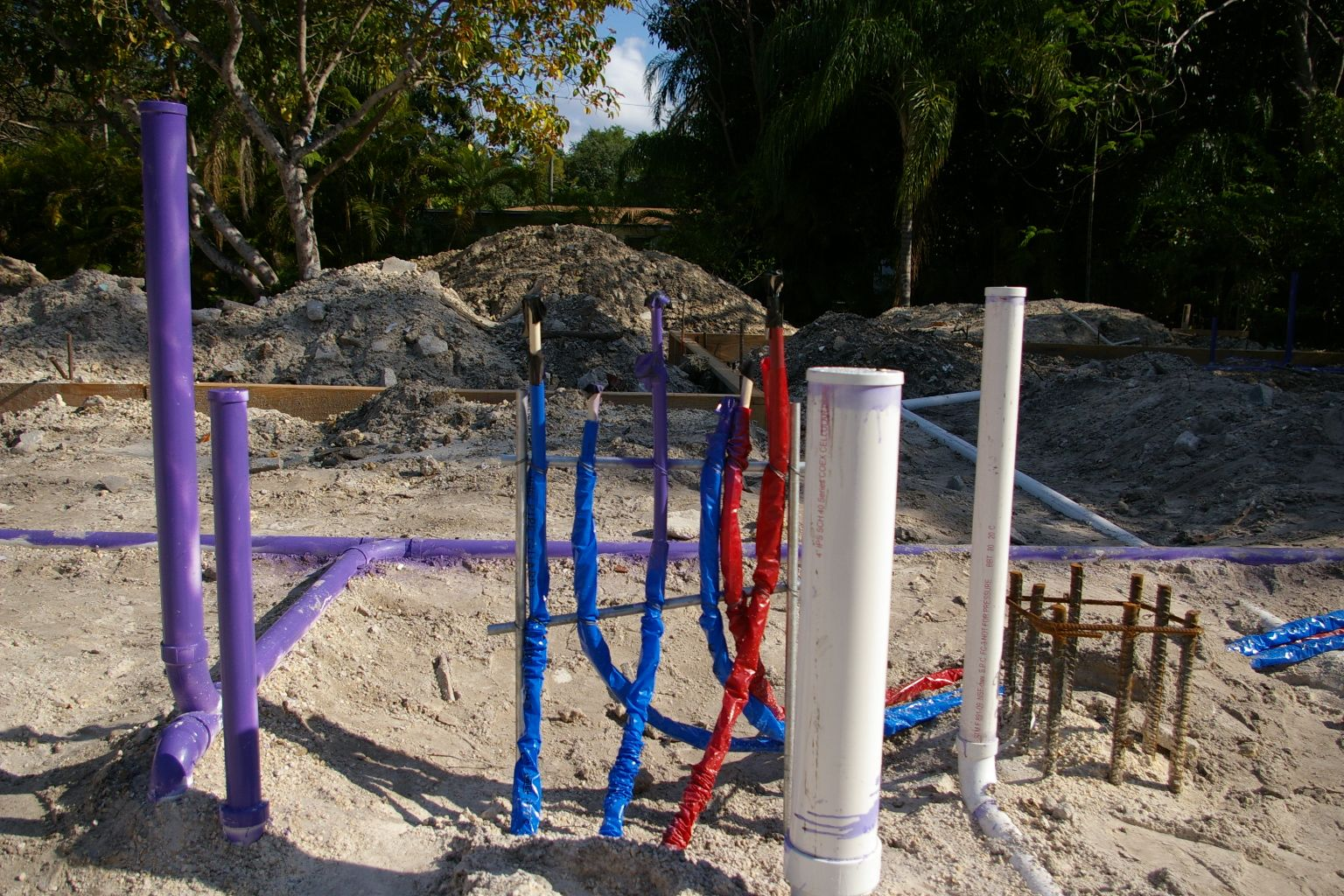 Tin box red white blue and purple plumbing p 4 for New construction plumbing rough in