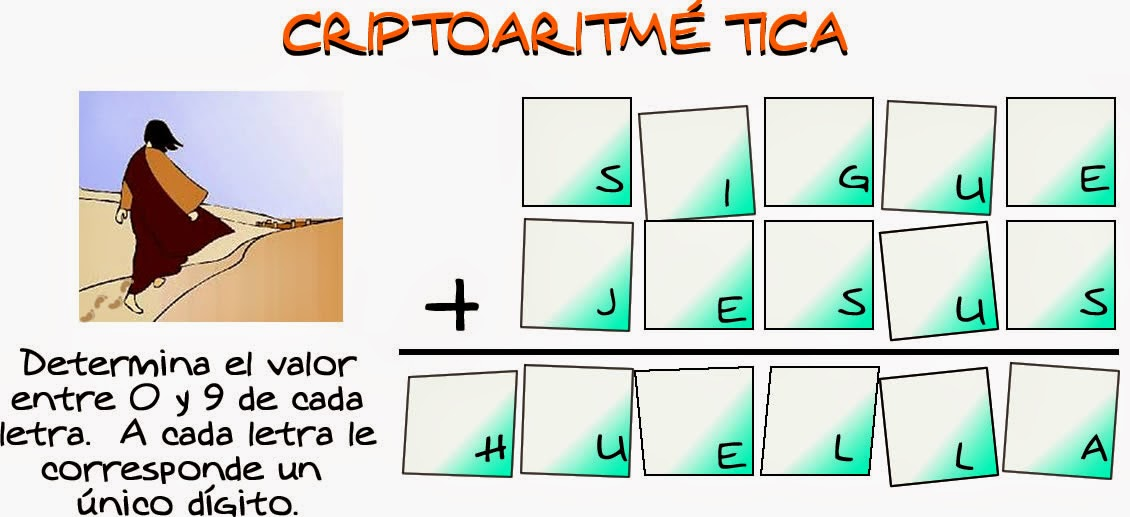 Criptoaritmética, Criptoaritmetica, Alfamética, Alfametica, Criptogramas, Criptosumas, Descubre los números, Los números Ocultos, Retos matemáticos, Desafíos matemáticos, Problemas matemáticos