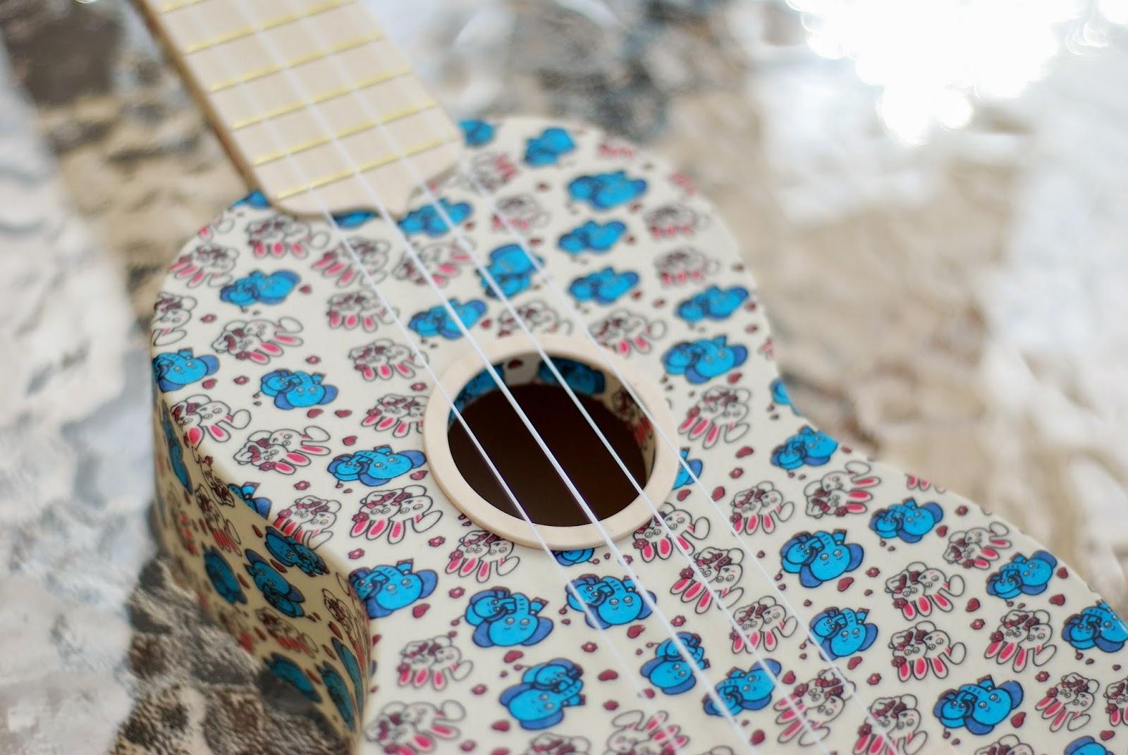 woodi plastic soprano ukulele sound hole