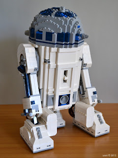 lego r2d2 - completed rear view showing off the fuel cells