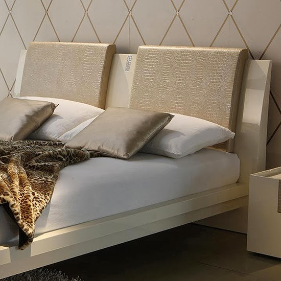 crocodile ecoleather, these Rossetto Diamond Ivory Headboard Pillows ...
