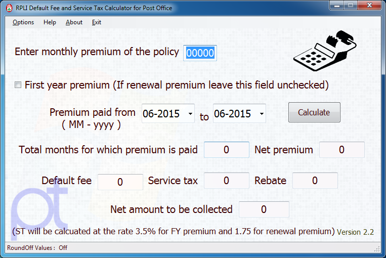 pli rpli service tax calculator 2 2