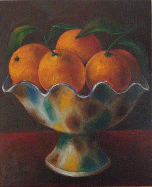 Frutero de Níjar con naranjas