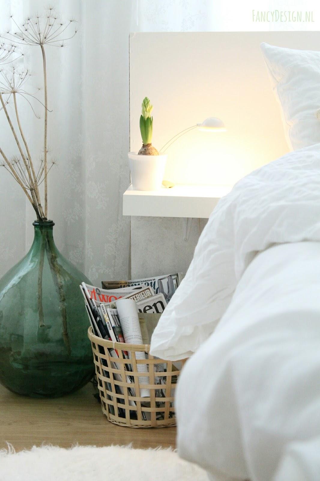 Fancy Design | blog: Vergrijsd groene muur in de slaapkamer