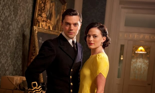 Dominic Cooper and Lara Pulver as Ian and Ann Fleming in Ecosse Films' FLEMING