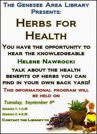 "9-9 Genesee Library ""Herbs for Health"""