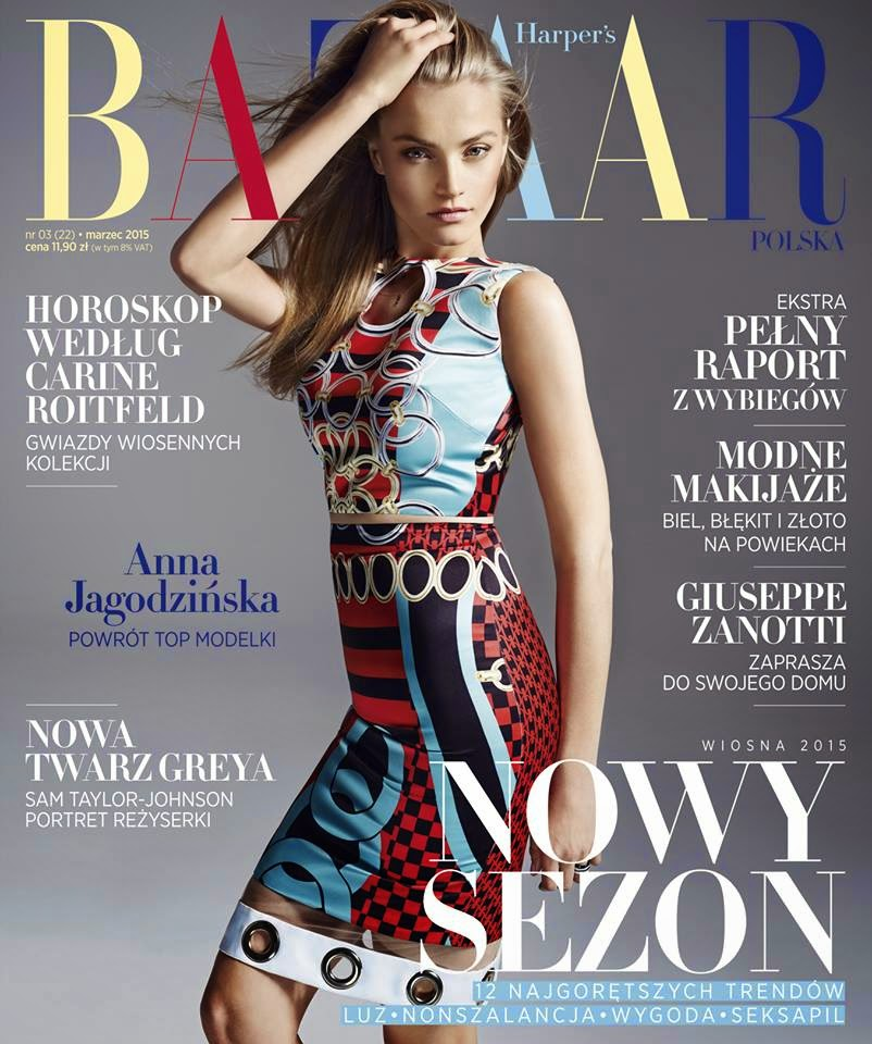 Fashion Model: Anna Jagodzinska - Harper's Bazaar Poland