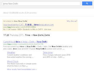 Use Google to find out time.