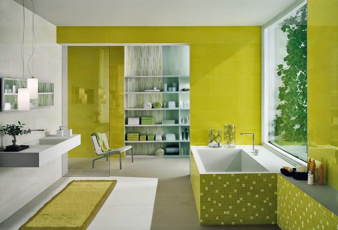 ديكور حمامات باللون الأخضر