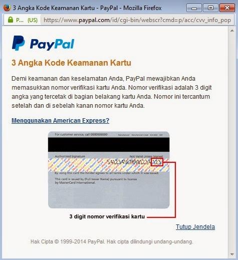 Nomor Kode Keamanan Kartu Kredit (Credit Card)