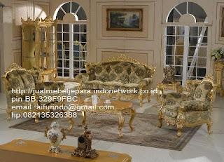 sofa klasik jepara jual mebel jepara Mebel furniture klasik jepara jual set sofa tamu ukir sofa tamu jati sofa tamu antik sofa jepara sofa tamu duco jepara furniture jati klasik jepara SFTM-33049,sofa tamu classic Davincy mewah