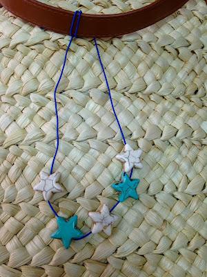 Estrella de piedra natural para decorar el cesto una vez pintado con ChalkPaint