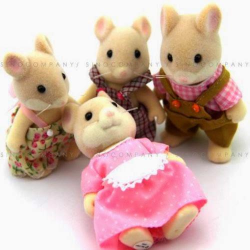 Lot 4 New Sylvanian Families Series 3'' Dolls figure M319