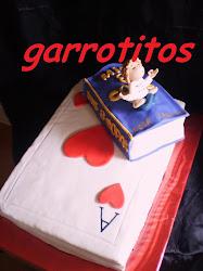 tarta de baraja de cartas para lola, una gran lectora, cartera y yoguista