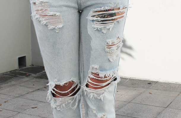 Sweet Monday, Glamorous, ripped mom jeans