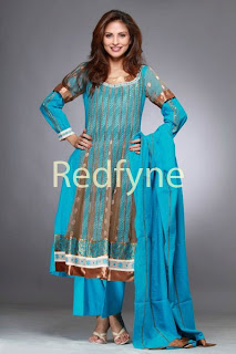 beautiful anarkali frock with embroidery