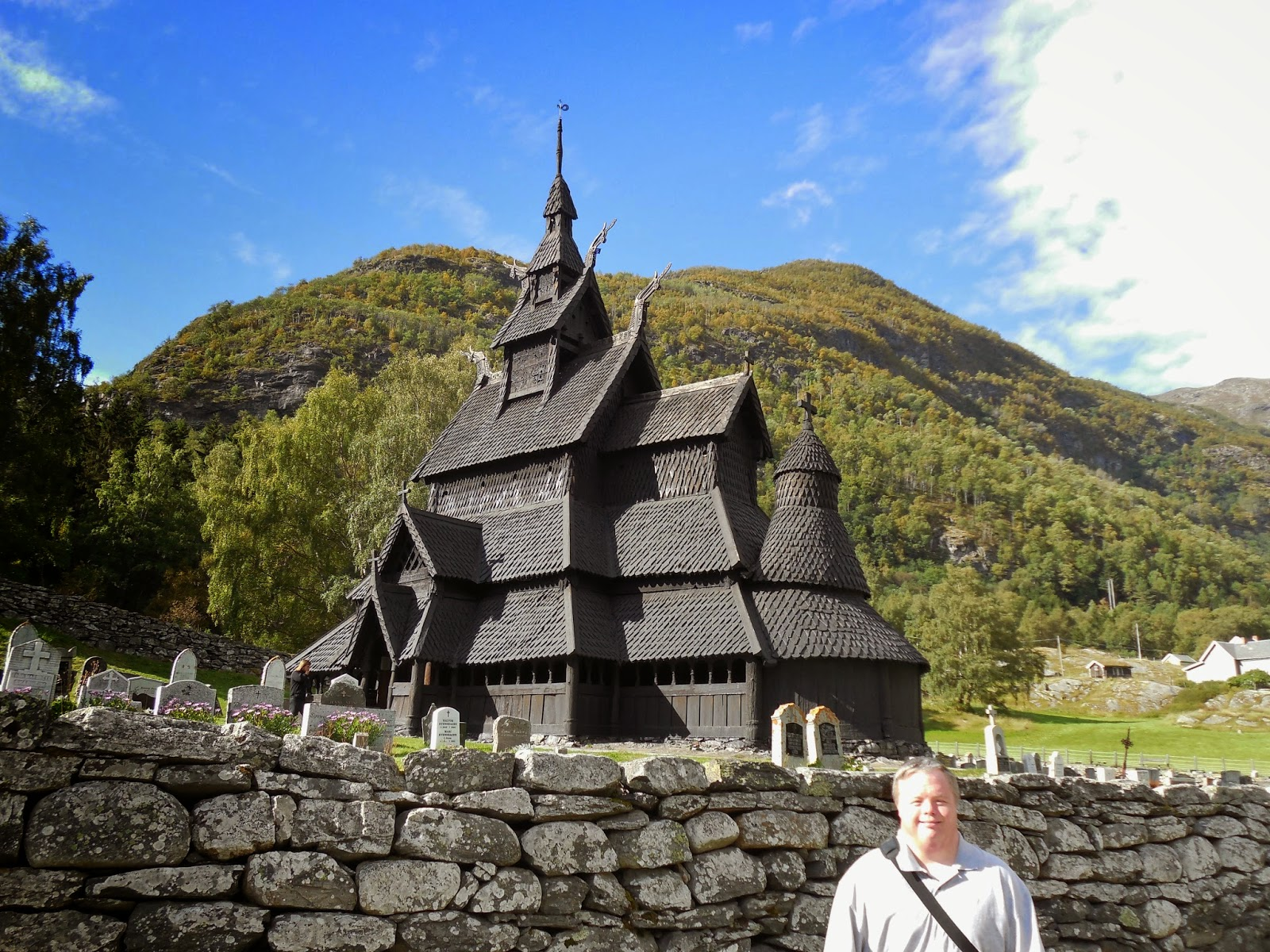 borgund stave church roof dragons scale shingles roosters in
