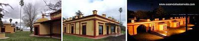 Tres imágenes del casco de la Estancia La Alameda en Chascomús - Buenos Aires