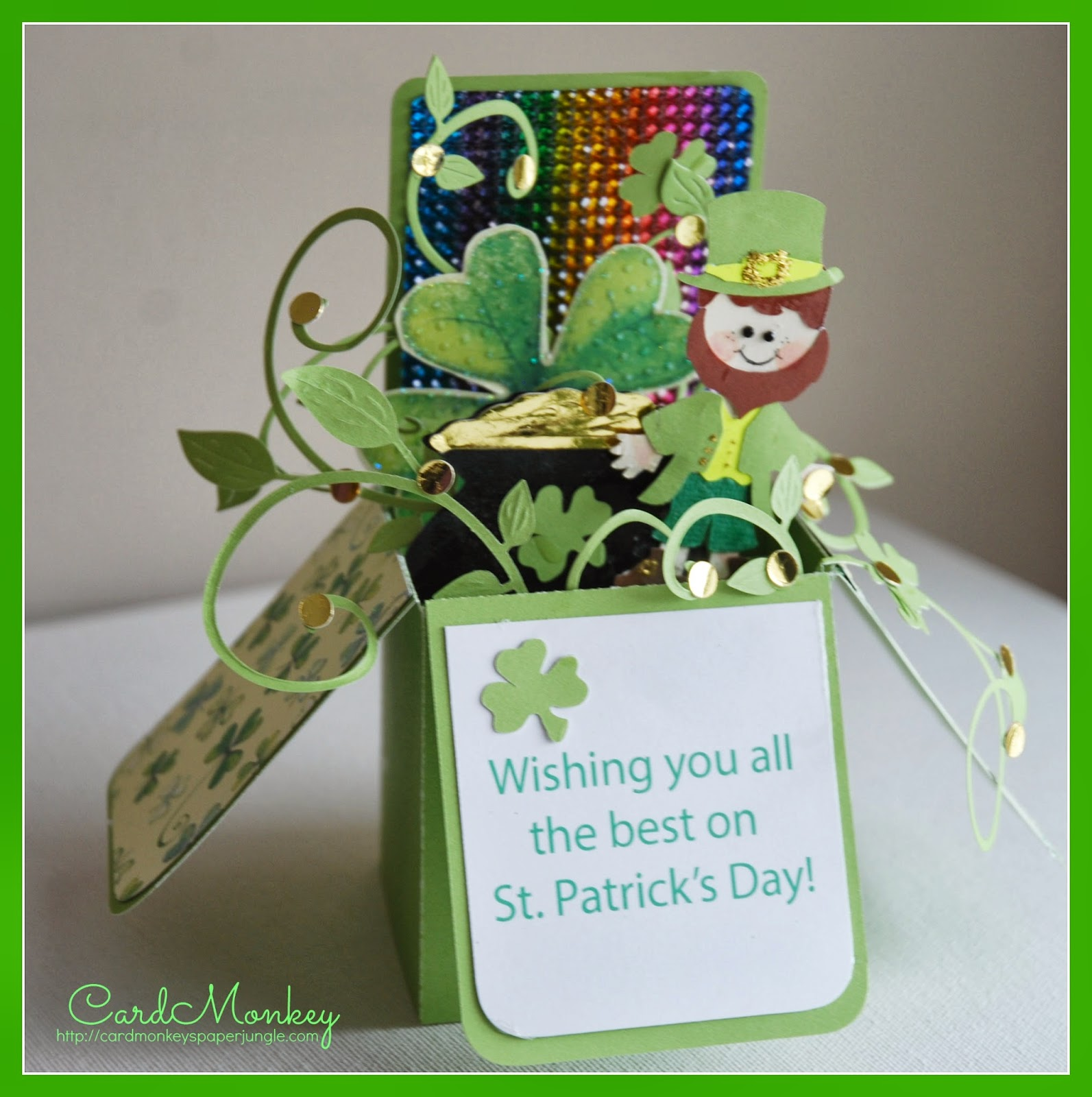 Cardmonkeys Paper Jungle St Patricks Day Greetings To You And Yours