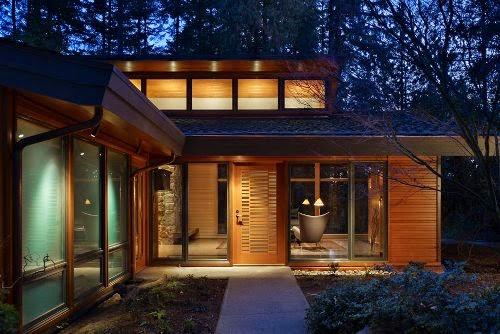 wooden modern house architecture design