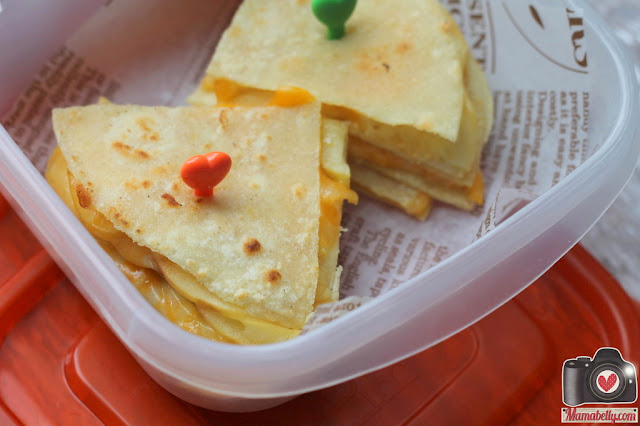 Apple & Cheese Quesadillas from MOMables.com - packed by mamabelly.com