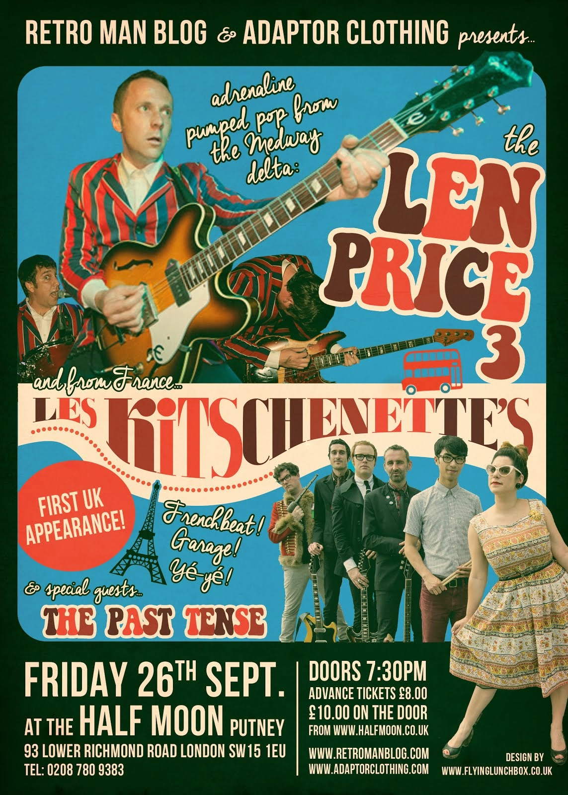 The Len Price 3 + Les Kitschenette's + The Past Tense at The Half Moon Putney